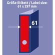Rückenschilder zum Bedrucken 61x297mm lang breit auf A4 Bögen rot selbstklebend Zweckform L4752-20 (PACK=60 STÜCK) Produktbild Additional View 6 S