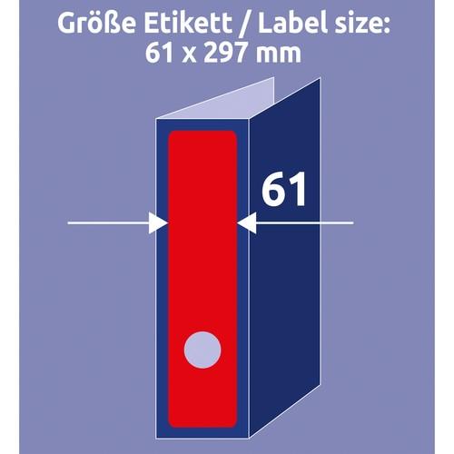 Rückenschilder zum Bedrucken 61x297mm lang breit auf A4 Bögen rot selbstklebend Zweckform L4752-20 (PACK=60 STÜCK) Produktbild Additional View 6 L