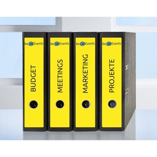 Rückenschilder zum Bedrucken 61x297mm lang breit auf A4 Bögen gelb selbstklebend Zweckform L4755-20 (PACK=60 STÜCK) Produktbild Additional View 8 L