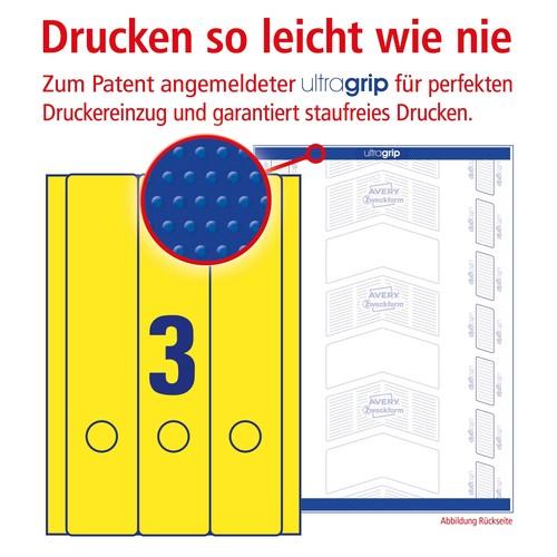 Rückenschilder zum Bedrucken 61x297mm lang breit auf A4 Bögen gelb selbstklebend Zweckform L4755-20 (PACK=60 STÜCK) Produktbild Additional View 3 L