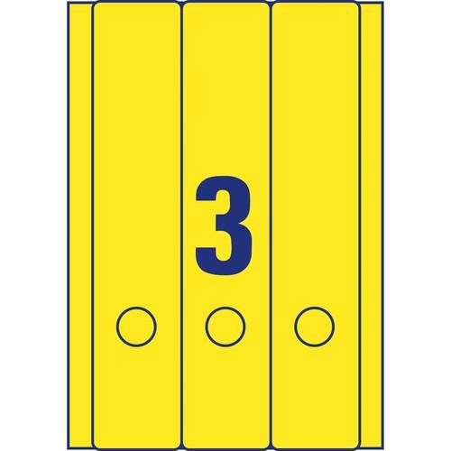 Rückenschilder zum Bedrucken 61x297mm lang breit auf A4 Bögen gelb selbstklebend Zweckform L4755-20 (PACK=60 STÜCK) Produktbild Additional View 2 L
