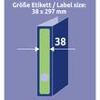 Rückenschilder zum Bedrucken 38x297mm lang schmal auf A4 Bögen grün selbstklebend Zweckform L4750-20 (PACK=100 STÜCK) Produktbild Additional View 6 S
