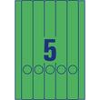 Rückenschilder zum Bedrucken 38x297mm lang schmal auf A4 Bögen grün selbstklebend Zweckform L4750-20 (PACK=100 STÜCK) Produktbild Additional View 1 S