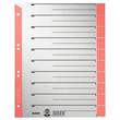Trennblätter mit abschneidbaren Taben A4 238x300mm rot teilfarbig Karton Leitz 1652-30-25 (PACK=25 STÜCK) Produktbild