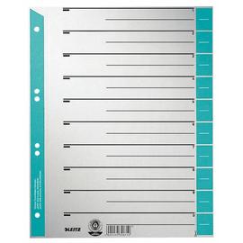 Trennblätter mit abschneidbaren Taben A4 240x300mm hellblau teilfarbig Leitz 1652-00-30 (PACK=100 STÜCK) Produktbild
