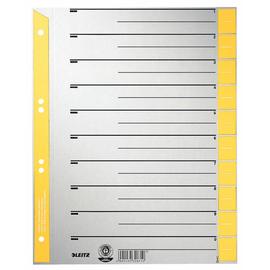 Trennblätter mit abschneidbaren Taben A4 240x300mm gelb teilfarbig Leitz 1652-00-15 (PACK=100 STÜCK) Produktbild