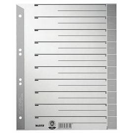 Trennblätter mit abschneidbaren Taben A4 240x300mm grau teilfarbig Karton Leitz 1652-00-85 (PACK=100 STÜCK) Produktbild