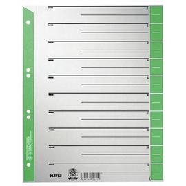 Trennblätter mit abschneidbaren Taben A4 240x300mm grün teilfarbig Karton Leitz 1652-00-55 (PACK=100 STÜCK) Produktbild