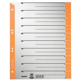 Trennblätter mit abschneidbaren Taben A4 240x300mm orange teilfarbig Karton Leitz 1652-00-45 (PACK=100 STÜCK) Produktbild