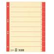 Trennblätter mit abschneidbaren Taben A4 240x300mm rot teilfarbig Karton Esselte 621019 (PACK=100 STÜCK) Produktbild