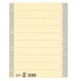 Trennblätter mit abschneidbaren Taben A4 240x300mm grau teilfarbig Karton Esselte 621023 (PACK=100 STÜCK) Produktbild