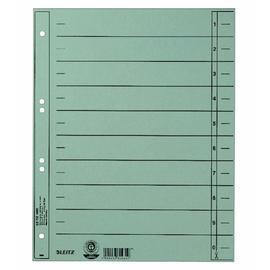 Trennblätter mit abschneidbaren Taben A4 240x300mm hellblau vollfarbig Karton Leitz 1658-00-30 Produktbild