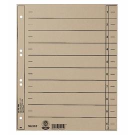Trennblätter mit abschneidbaren Taben A4 240x300mm grau vollfarbig Karton Leitz 1658-00-85 Produktbild