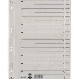 Trennblätter mit abschneidbaren Taben A4 für Hängeordner 223x300mm grau vollfarbig Karton Leitz 6097-00-85 (PACK=100 STÜCK) Produktbild