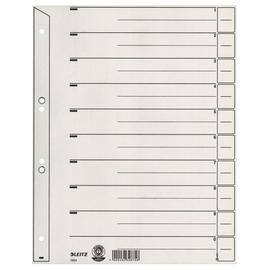 Trennblätter mit abschneidbaren Taben A4 geöst 238x300mm grau vollfarbig Karton Leitz 1654-00-85 Produktbild