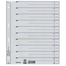 Trennblätter mit abschneidbaren Taben A4 238x300mm grau vollfarbig Karton Leitz 1650-30-85 (PACK=25 STÜCK) Produktbild