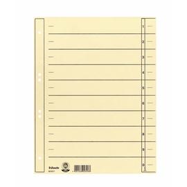 Trennblätter mit abschneidbaren Taben A4 235x300mm chamois vollfarbig Karton Esselte 621017 (PACK=100 STÜCK) Produktbild