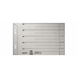 Trennblätter mit abschneidbaren Taben A5 quer 240x150mm grau vollfarbig Karton Leitz 1656-00-85 (PACK=100 STÜCK) Produktbild