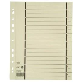 Trennblätter mit abtrennbaren Taben A4 240x300mm chamois vollfarbig 200g Karton Elba 400004672 (PACK=100 STÜCK) Produktbild