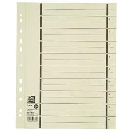 Trennblätter Oxford A4 chamois 200g vollfarbig Karton 240x300mm mit perforierten Taben 400004672 (PACK=100 STÜCK) Produktbild