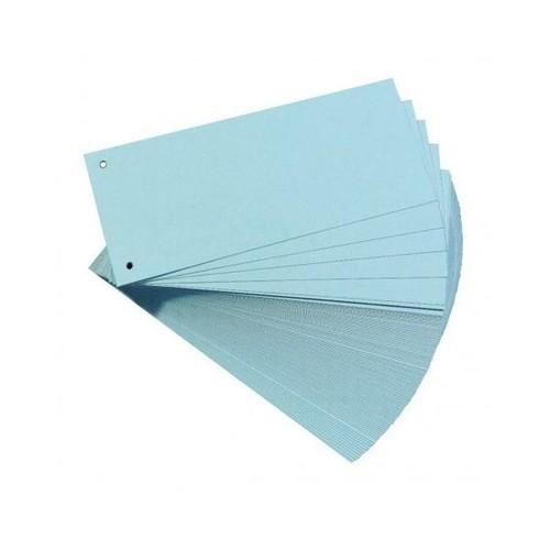 Trennstreifen gelocht 105x240mm blau vollfarbig recycling BestStandard (PACK=100 STÜCK) Produktbild Front View L