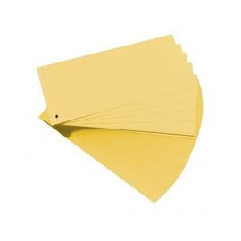 Trennstreifen gelocht 105x240mm gelb vollfarbig recycling BestStandard (PACK=100 STÜCK) Produktbild