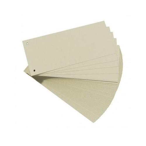 Trennstreifen gelocht 105x240mm grau vollfarbig recycling BestStandard (PACK=100 STÜCK) Produktbild Front View L