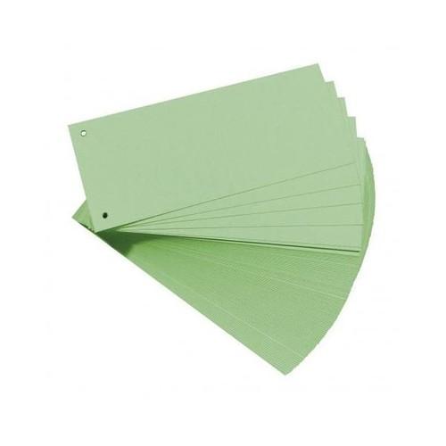 Trennstreifen gelocht 105x240mm grün vollfarbig recycling BestStandard (PACK=100 STÜCK) Produktbild Front View L