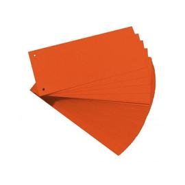 Trennstreifen gelocht 105x240mm orange vollfarbig recycling BestStandard (PACK=100 STÜCK) Produktbild