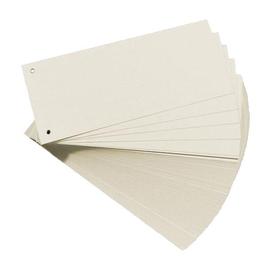 Trennstreifen gelocht 105x240mm weiß vollfarbig recycling BestStandard (PACK=100 STÜCK) Produktbild