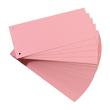 Trennstreifen gelocht 105x240mm rot vollfarbig recycling BestStandard (PACK=100 STÜCK) Produktbild