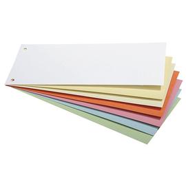 Trennstreifen gelocht 105x240mm sortiert vollfarbig recycling BestStandard (PACK=100 STÜCK) Produktbild