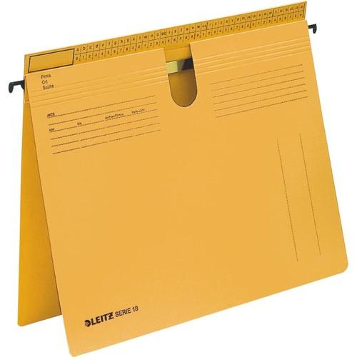 Hängehefter SERIE 18 kaufmännische + Amtsheftung gelb Leitz 1814-00-15 Produktbild Front View L