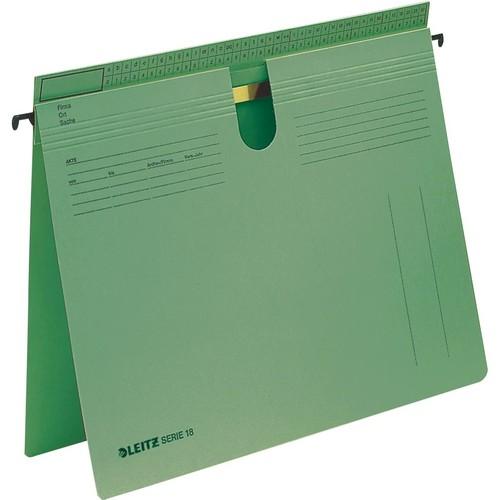 Hängehefter SERIE 18 kaufmännische + Amtsheftung grün Leitz 1814-00-55 Produktbild Front View L