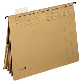 Mehrfach-Hängehefter ALPHA 4x kaufmännische Hefttung und Tasche naturbraun Leitz 1983-00-00 Produktbild
