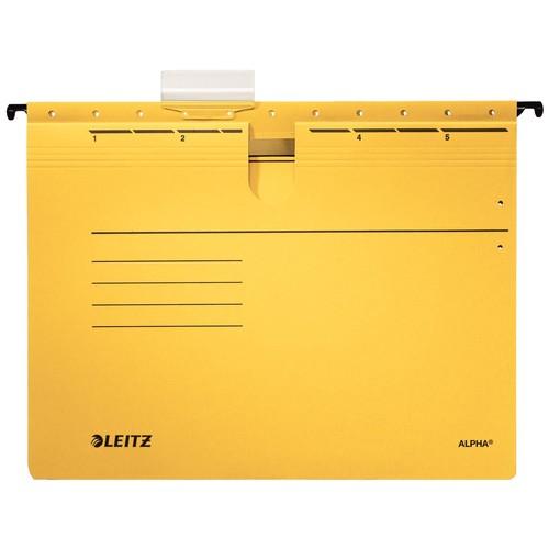 Hängehefter ALPHA kaufmännische Heftung gelb Leitz 1984-30-15 (PACK=5 STÜCK) Produktbild