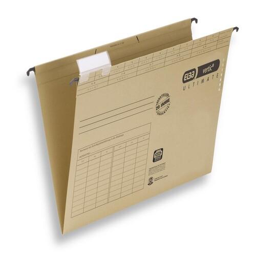 Hängemappen vertic seitlich offen für ungelochte Unterlagen naturbraun Elba 100560135 (PACK=10 STÜCK) Produktbild