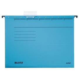 Hängemappen ALPHA seitlich offen für ungelochte Unterlagen blau Leitz 1985-30-35 (PACK=5 STÜCK) Produktbild