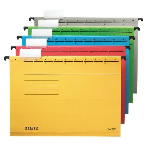 Hängemappen ALPHA seitlich offen für ungelochte Unterlagen gelb Leitz 1985-30-15 (PACK=5 STÜCK) Produktbild Additional View 1 L