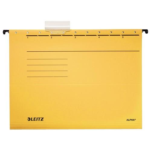 Hängemappen ALPHA seitlich offen für ungelochte Unterlagen gelb Leitz 1985-30-15 (PACK=5 STÜCK) Produktbild