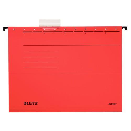 Hängemappen ALPHA seitlich offen für ungelochte Unterlagen rot Leitz 1985-30-25 (PACK=5 STÜCK) Produktbild