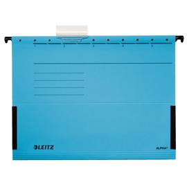 Hängetaschen ALPHA seitliche Frösche für ungelochte Unterlagen blau Leitz 1986-30-35 (PACK=5 STÜCK) Produktbild