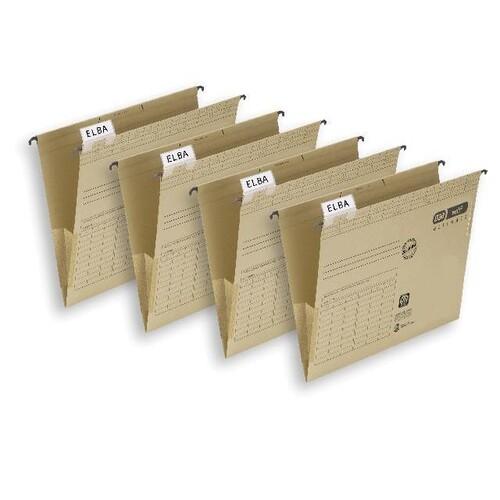 Hängetaschen vertic ULTIMATE seitliche Frösche für ungelochte Unterlagen naturbraun Elba 100081040 (PACK=25 STÜCK) Produktbild