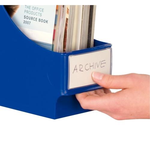 Beschriftungsschilder für Stehsammler 84x46mm 10xAbdeckschilder+ 10xPapierschilder Leitz 6152-00-00 Produktbild Front View L
