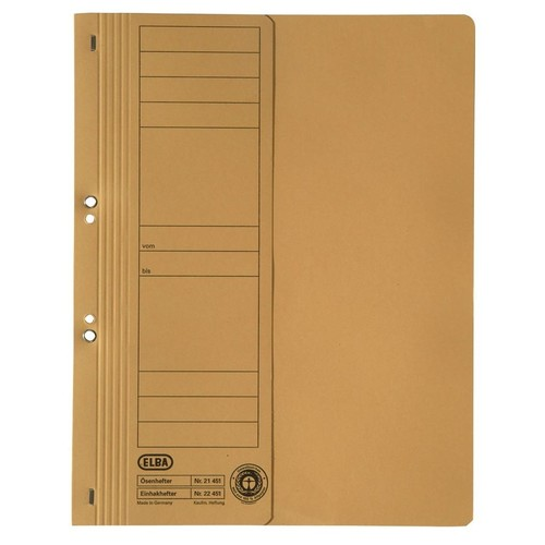 Ösenhefter 1/2 Vorderdeckel kaufmännische Heftung 240x305mm für 200Blatt gelb Karton Elba 100551878 Produktbild