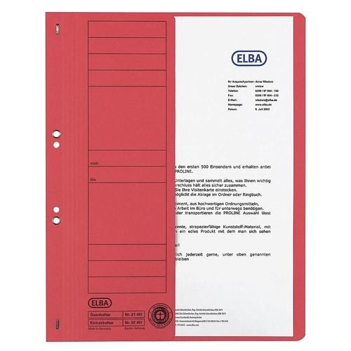 Ösenhefter 1/2 Vorderdeckel kaufmännische Heftung 240x350mm für 200Blatt rot Karton Elba 100551882 Produktbild Additional View 1 L