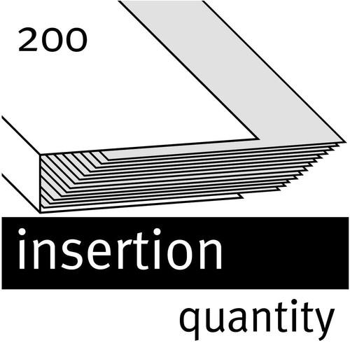 Ösenhefter 1/2 Vorderdeckel kaufmännische Heftung 240x305mm für 200Blatt grau Karton Elba 100551880 Produktbild Additional View 3 L