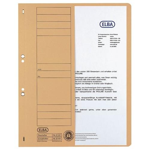 Ösenhefter 1/2 Vorderdeckel kaufmännische Heftung 240x305mm für 200Blatt grau Karton Elba 100551880 Produktbild Additional View 1 L