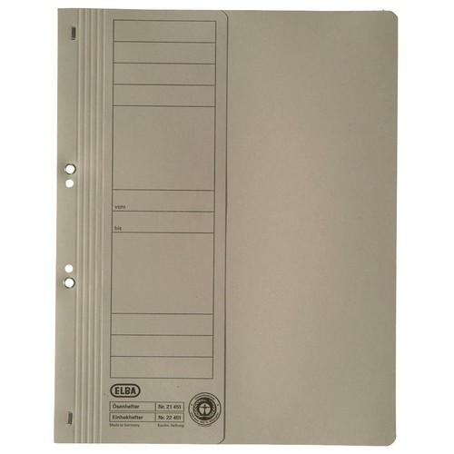 Ösenhefter 1/2 Vorderdeckel kaufmännische Heftung 240x305mm für 200Blatt grau Karton Elba 100551880 Produktbild