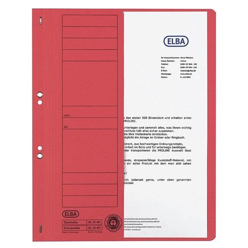 Ösenhefter 1/2 Vorderdeckel kaufmännische Heftung 240x305mm für 200Blatt chamois Karton Elba 100551877 Produktbild Additional View 1 L